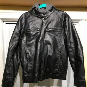Guess: Leather Jacket